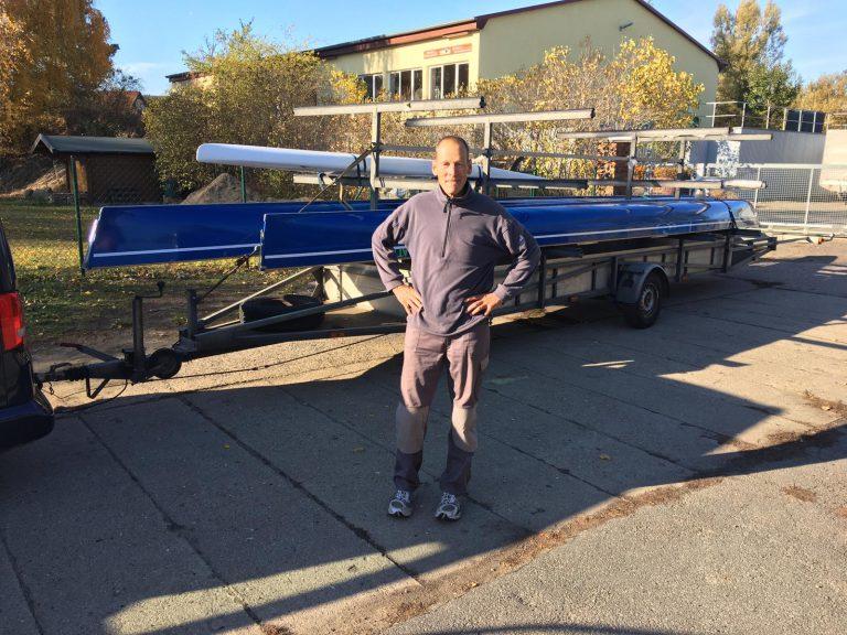 Die beiden Grossboote und das Row-SUP bereit zum Transport ins Winterlager